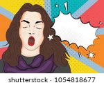 vector illustration of pop art... | Shutterstock .eps vector #1054818677