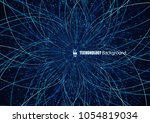 abstract communication network... | Shutterstock .eps vector #1054819034