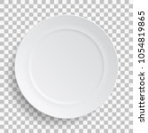 white dish plate isolated on... | Shutterstock .eps vector #1054819865