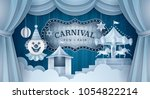 premium curtains stage with... | Shutterstock .eps vector #1054822214