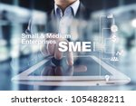 sme  small and medium sized... | Shutterstock . vector #1054828211