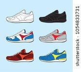 sneakers. sport shoes.vector... | Shutterstock .eps vector #1054833731