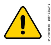 attention icon. warning sign.... | Shutterstock .eps vector #1054836341