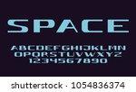 geometric futuristic font... | Shutterstock .eps vector #1054836374