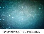 3d render of dna structure ...   Shutterstock . vector #1054838837