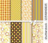 collection of retro seamless... | Shutterstock .eps vector #1054840835