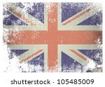 british flag with grunge aged... | Shutterstock .eps vector #105485009