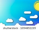 cloudscape. blue sky with white ... | Shutterstock .eps vector #1054852235