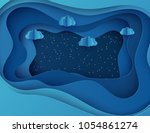 night sky with shining stars...   Shutterstock .eps vector #1054861274