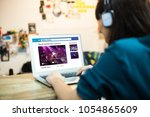online live video streaming... | Shutterstock . vector #1054865609