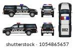 police car vector mock up.... | Shutterstock .eps vector #1054865657