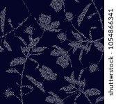 beautiful silhouette of garden... | Shutterstock .eps vector #1054866341