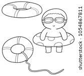 vector set of life ring | Shutterstock .eps vector #1054867811