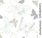 seamless pattern with... | Shutterstock .eps vector #1054869491