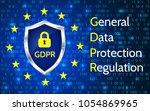 eu general data protection... | Shutterstock .eps vector #1054869965