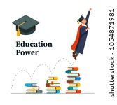 education power concept.... | Shutterstock .eps vector #1054871981