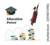 education power concept.... | Shutterstock .eps vector #1054871981