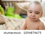 little baby crying  | Shutterstock . vector #1054874675