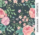 floral seamless pattern. flower ...   Shutterstock .eps vector #1054881671