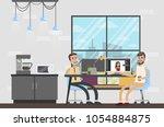 photostudio interior room with... | Shutterstock .eps vector #1054884875