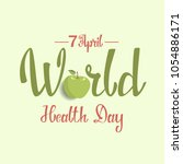 world health day greeting card... | Shutterstock .eps vector #1054886171