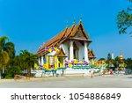 monastery wat na phramane in... | Shutterstock . vector #1054886849
