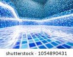 modern hammam with a swimming... | Shutterstock . vector #1054890431