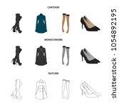 women high boots  coats on... | Shutterstock .eps vector #1054892195