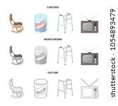 denture  rocking chair  walker  ... | Shutterstock .eps vector #1054893479