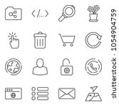 thin line icon set   earth...