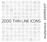 exclusive 2000 thin line icons...