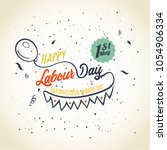 happy labour day. international ... | Shutterstock .eps vector #1054906334