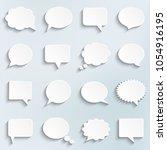 abstract vector white speech... | Shutterstock .eps vector #1054916195