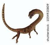 tanystropheus dinosaur side... | Shutterstock . vector #1054920809