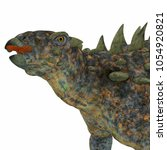 polacanthus dinosaur head 3d... | Shutterstock . vector #1054920821