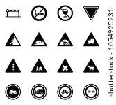 solid vector icon set   barrier ... | Shutterstock .eps vector #1054925231