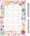 cute calendar for 2019 year.... | Shutterstock .eps vector #1054926284