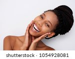 close up portrait of cheerful... | Shutterstock . vector #1054928081