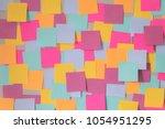many color blank sticky note... | Shutterstock . vector #1054951295
