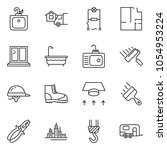 thin line icon set   home... | Shutterstock .eps vector #1054953224