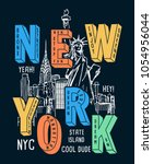 New york theme vectors for t-shirt prints and other uses