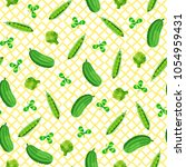 seamless pattern with green... | Shutterstock .eps vector #1054959431
