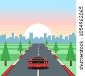 retro game racing. motor... | Shutterstock .eps vector #1054962065