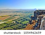 view from above of mount bental.... | Shutterstock . vector #1054962659