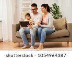 family  technology  parenthood... | Shutterstock . vector #1054964387