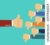 one hand of businessman leader... | Shutterstock .eps vector #1054966019