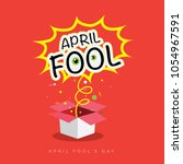 april fool's day poster design | Shutterstock .eps vector #1054967591