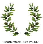 black olive branches wreath | Shutterstock .eps vector #105498137