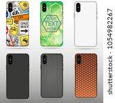 set case for iphone x vector... | Shutterstock .eps vector #1054982267