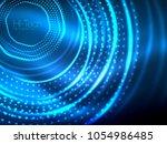 magic neon circle shape... | Shutterstock .eps vector #1054986485